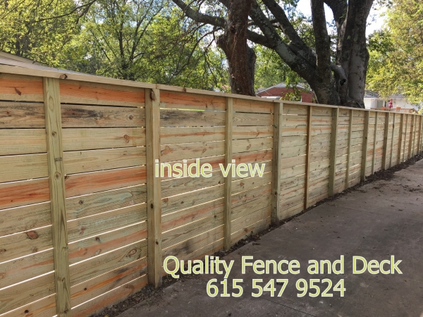 Horizontal Fence Quality Fence And Deck Llc